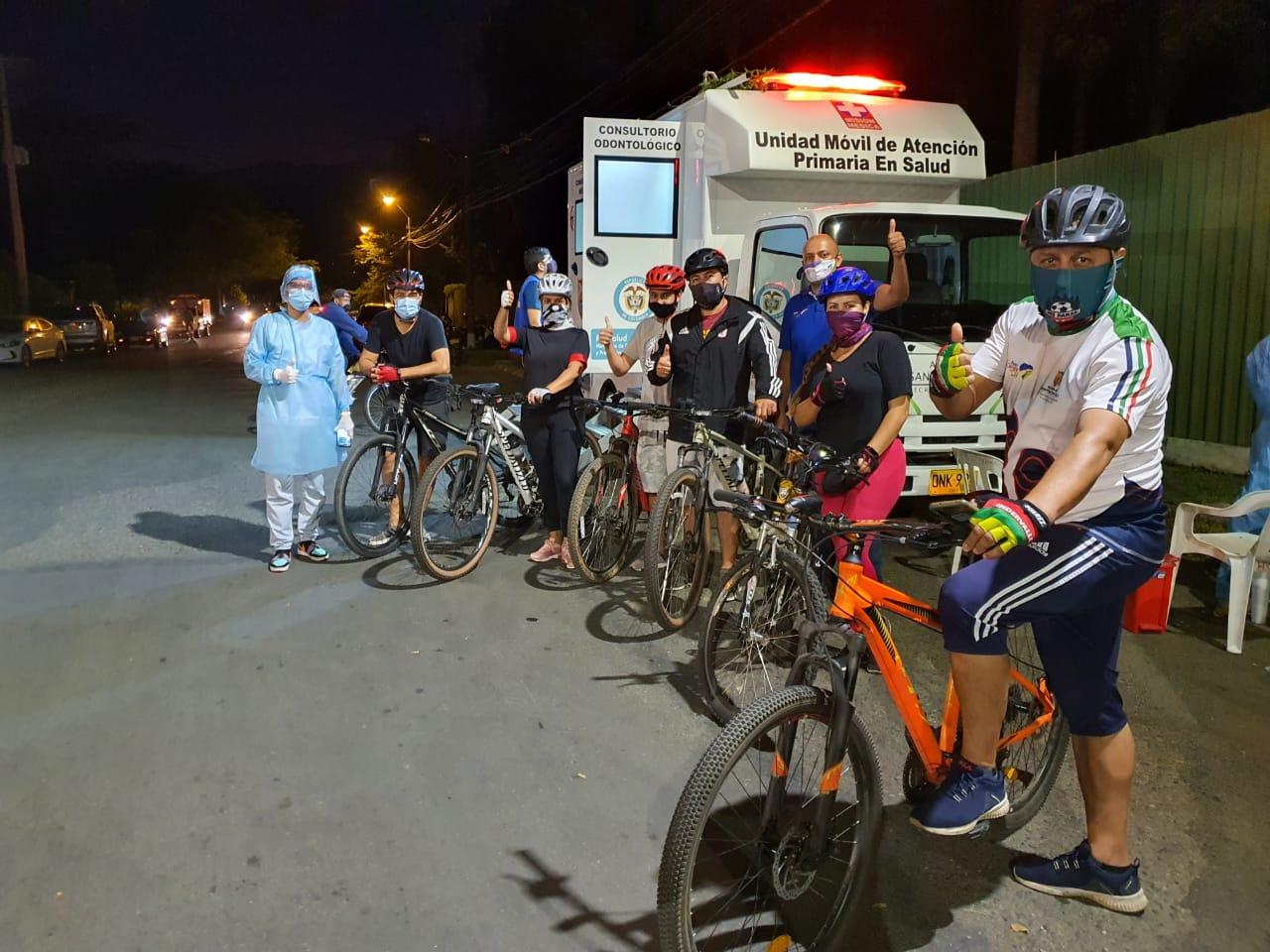 Inició en Cali toma de pruebas PCR gratuitas para ciclistas que usan las Rutas D' Vida