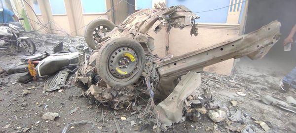 Atentado terrorista: Detonada carga de explosivos frente a la Alcaldía de Corinto
