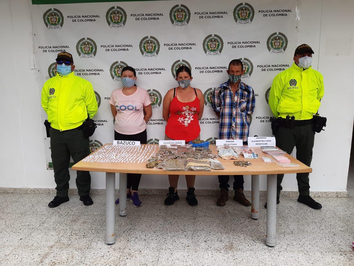 Tres asegurados por tráfico de estupefacientes en Sevilla, Valle del Cauca