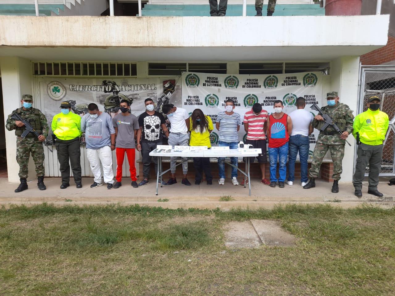 Judicializados 9 presuntos integrantes de la banda 'Los del Puente' por distribución de bazuco y marihuana