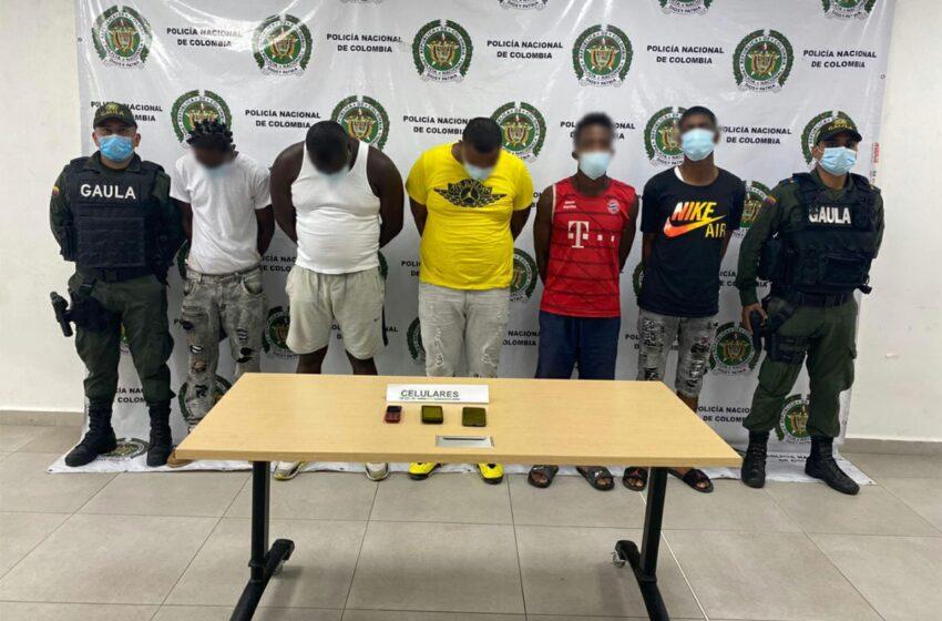 Cinco integrantes del grupo delincuencial 'La Local' fueron capturados por extorsionar en el puerto de Buenaventura
