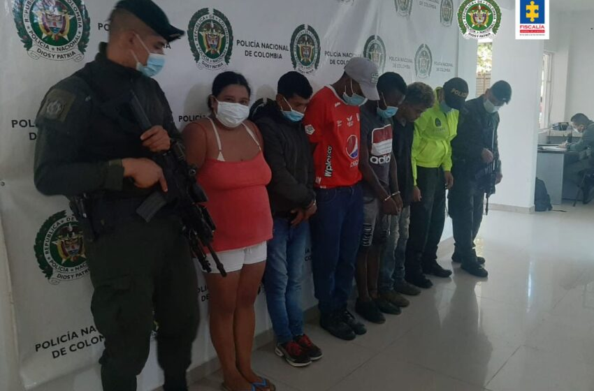 Asegurados seis presuntos integrantes del grupo delictivo 'Los Pitufos' por narcomenudeo en el Cauca