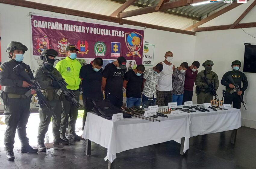Medida de aseguramiento a siete presuntos integrantes de las disidencias del Frente 48 de las Farc
